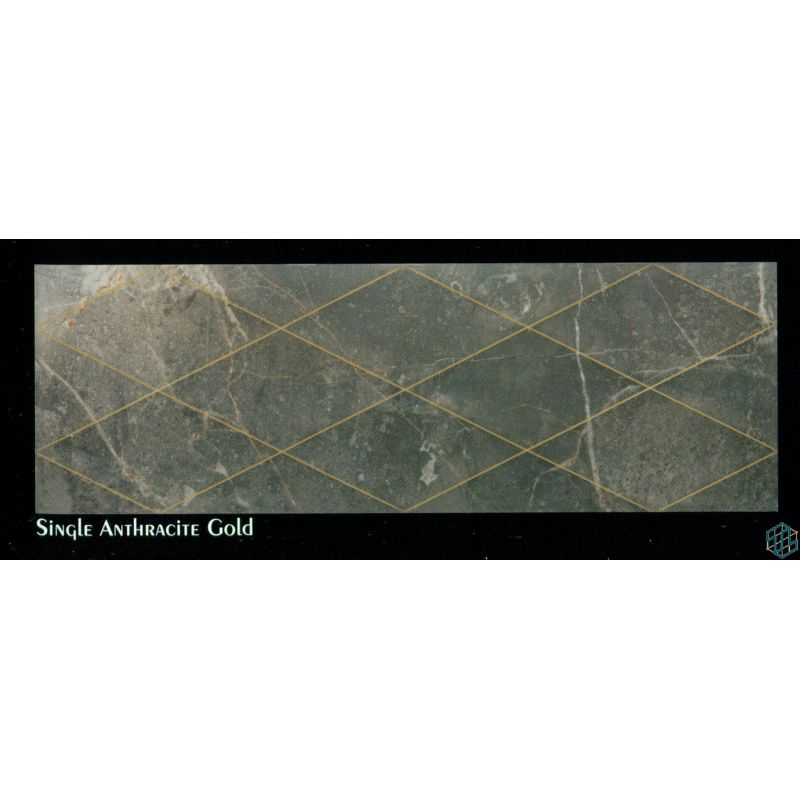 Prestige (Single Anthracite Gold) - Wall Tile