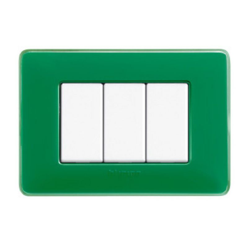 Emerald Colours Cover Plates Three Modules