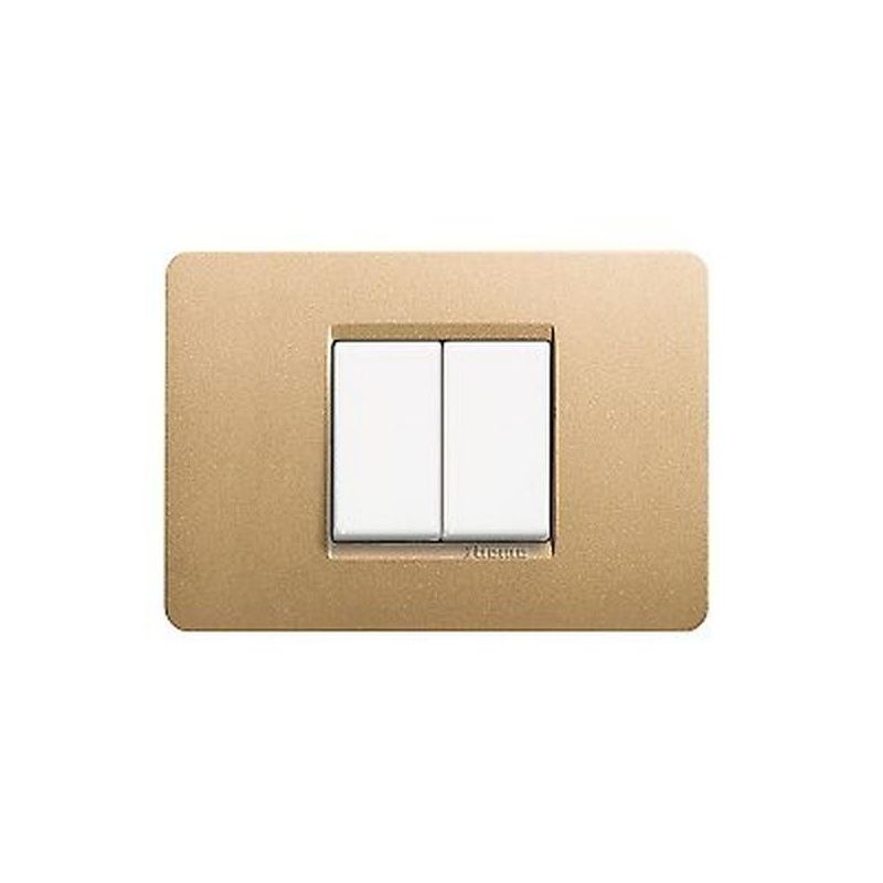 Gold Metallics Cover Plates Two Modules