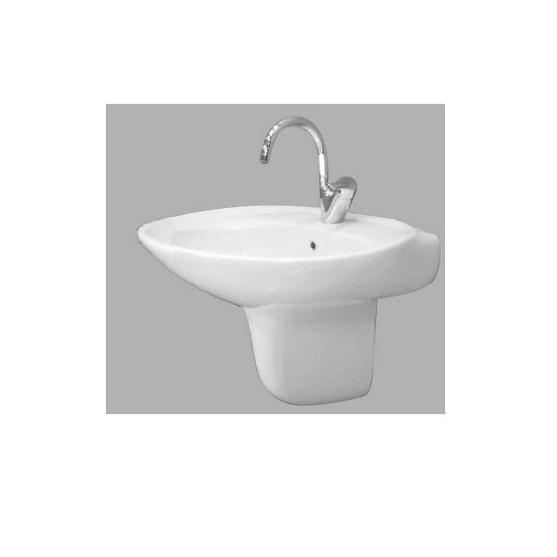 New Capri Wall Pedestal Basin 70 cm